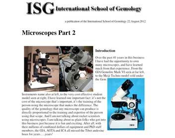 International School of Gemology | Robert James | Our Little
